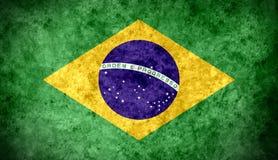 Brazil grunge flag Stock Photo
