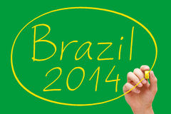 Brazil 2014 Handwriting Royalty Free Stock Images