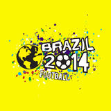 Brazil 2014 header design on grunge texture background, & illustration Stock Photography