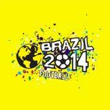 Brazil 2014 header design on grunge texture background, & illustration Stock Photography