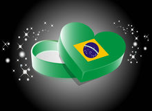 Brazil Heart Shape Gift Box Royalty Free Stock Photos