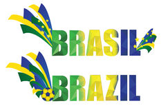 Brazil heather. Brazil blue yellow and blue festive banner Stock Images