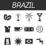 Brazil icon set ilustración del vector