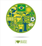 Brazil icon set. Stock Photo