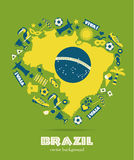 Brazil icon set. Flat design Stock Image