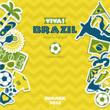 Brazil icon set. Stock Photography