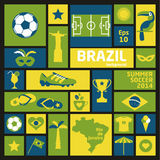 Brazil icon set. Royalty Free Stock Image