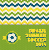 Brazil icon set. Vector Illustration of Brazil. Banner of sport Royalty Free Stock Photography