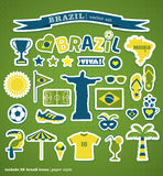 Brazil icon set. Royalty Free Stock Photography