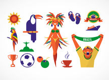 Brazil icons and illustration Royalty Free Stock Photos