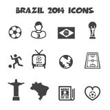 Brazil 2014 icons. Mono vector symbols royalty free illustration