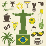 Brazil icons set Royalty Free Stock Images