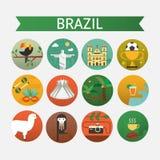 Brazil icons set Royalty Free Stock Photos