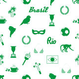 Brazil icons and symbols seamless pattern. Eps10 Royalty Free Stock Image
