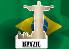 Brazil, illustration Stock Photography