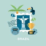 Brazil illustration Stock Images