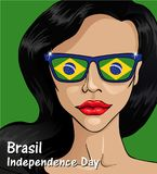 Brazil Independence Day Background. 7 september. Brazil Happy Independence Day greeting card. Patriotic Symbolic background Vector illustration Royalty Free Stock Photo