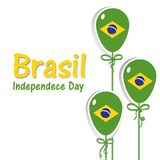 Brazil Independence Day Background. 7 september. Brazil Happy Independence Day greeting card. Patriotic Symbolic background Vector illustration Royalty Free Stock Images