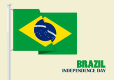 Brazil Independence Day with Brazil flag Royalty Free Stock Photography