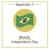 Brazil Independence Day, September 7 Stock Image