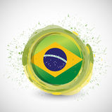 Brazil ink circle flag illustration design Royalty Free Stock Image