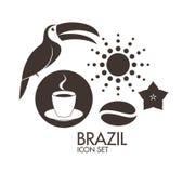 brazil Insieme dell'icona royalty illustrazione gratis