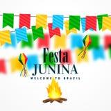 Brazil june festival of festa junina celebration. Vector Stock Photos