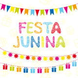 Brazil june party. Greeting card, festive garlands Royalty Free Stock Photography