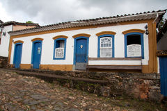 brazil koloniala hustiradentes Royaltyfri Fotografi