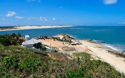 brazil kustlinje Arkivfoto