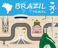 Brazil Landmark Global Travel And Journey Infographic Vector Des. Ign Template.vector Stock Photography