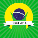 Brazil 2014 logo. Artwork vector design Royalty Free Stock Photography