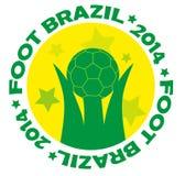 Brazil 2014 logo. Artwork vector design Stock Photos
