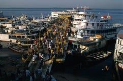 brazil manaus port Arkivbild