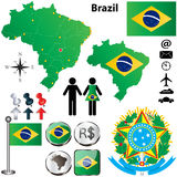 Brazil map Stock Photos
