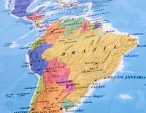 Free Brazil Map Stock Image - 41109651