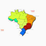 Brazil map Royalty Free Stock Photos