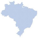 Brazil map dots Royalty Free Stock Images