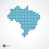 Brazil map and flag icon. Vector illustration of Brazil map from basic shape icons and flag Royalty Free Stock Photos