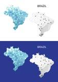 Brazil map in geometric polygonal style. Abstract gems triangle. Brazil map in geometric polygonal style. Abstract gems triangle Royalty Free Stock Photography