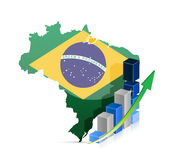 Brazil map and graph Stock Photo