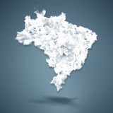 Brazil Map Royalty Free Stock Photography