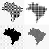 Brazil map set Stock Images