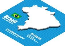 Brazil map vector Royalty Free Stock Photos