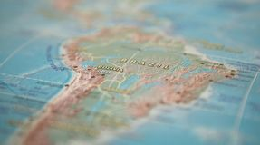 Brazil on the map. Brazil on the world map.  royalty free stock photography