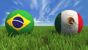 World Cup - Brazil Mexico Royalty Free Stock Photography