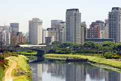 brazil miasta Paulo rzeki sao Obrazy Royalty Free