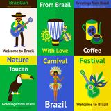 Brazil Mini Poster Set Stock Photography