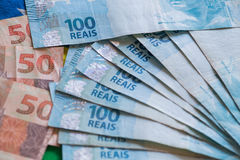 Brazil money /  reais Stock Image