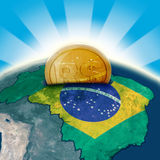 Brazil moneybox. Finance investment 3d concept Stock Images